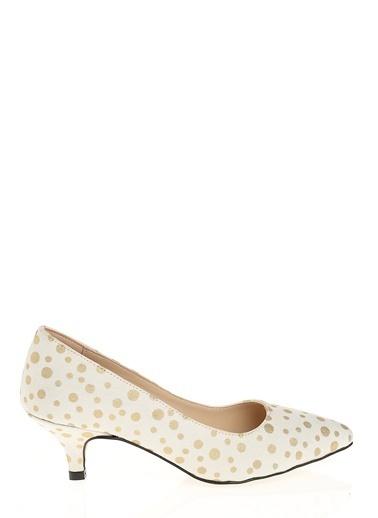 D by Divarese Kısa Topuklu Ayakkabı Beyaz